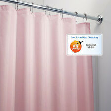 Pink Bathroom Shower Curtain 72 x 72 Mold Mildew Free Water Repellent Soft New