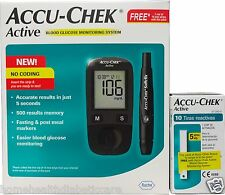 Accu-Chek Active Glucometer with 10 Strips