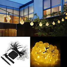 30 Solar LED Outdoor Waterproof Party String Fairy Festival Ambience Lights