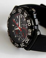TAG HEUER Grande Date Chronograph Watch for men, CAH1012, Large 44mm, BLACK