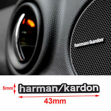 6 x Harman Kardon 3D Auto hi-fi Speaker Stereo Aluminum Badge Emblems Stickers