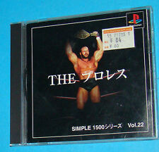The Pro Wrestling - Sony Playstation - PS1 PSX - JAP