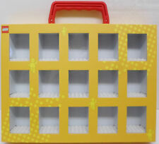 Lego Minifigure Collector's Box Yellow Display Storage Case Excellent Condition