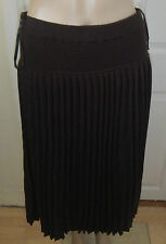 Episode 100% pleated plisse skirt in dark brown new UK Large with tag
