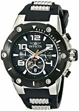 NEW New Men's Invicta Speedway 22235 Black & Stainless Steel Chronograph Watch