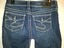 Women's Silver Jeans Suki Low Rise Skinny Jeans Tag 29x29 EUC #45