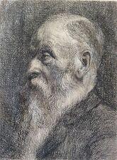 Très rare Portrait Camille Pissarro (1830-1903) gravure en pointe sèche !