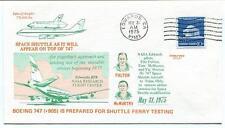 1974 Space Shuttle & Boeing 747 NASA Research Edwards Fulton & Mc Murty Tulsa