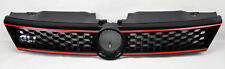 VW Jetta 4dr Sedan MK6 11-14 Gloss Black w/ Red Honeycomb Hex Front Grill