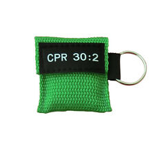 100pcs/Set One Way Valve CPR Mask CPR Face Sheild First Aid Training Keychain