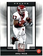 2008 Donruss Elite Rookie Ray Rice Auto Rutgers Ravens 8x10 Panini Very Rare!