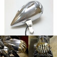 "4.5"" Invader Torpedo Headlight Finned Prison Grill Rodder Harley Bobber Chopper"