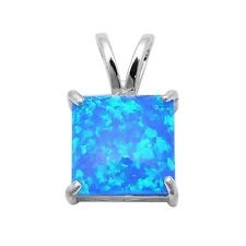 Blue Fire Opal .925 Sterling Silver Pendant