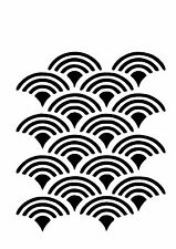High Detail Repeat Scallop Airbrush Stencil - Free UK Postage