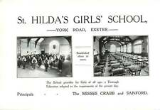 Exeter 1910 J Chudley Taylor Boswell Whittaker Auctn St Hilda's Girls School Ad