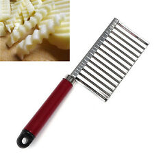 Universal Vegetable Crinkle Potato Chip Cutter With Wavy Blade French Fry Cutter