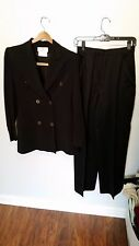 Givenchy Black Double Breasted Pant Suit - Size 38/6