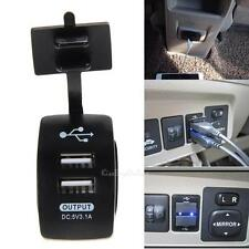 12V Dual USB Car Cigarette Lighter Socket Splitter Power Adapter Charger Outlet