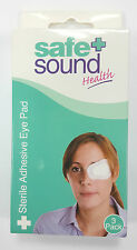 SAFE + SOUND STERILE ADHESIVE EYE PAD - 3 PACK