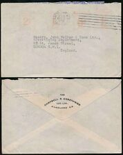 NEW ZEALAND METER FRANKING 1939 2d 1d 6d 1/- to GB..CAMPBELL EHRENFRIED AUCKLAND