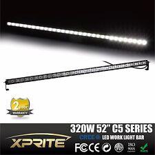"""Xprite C5 Single Row 52"""" 320W 32 Cree LED 3D Lens Light Bar Spot Flood Combo"""
