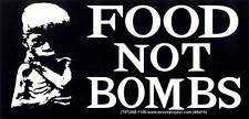 Food Not Bombs - Magnetic Bumper Sticker / Decal Magnet