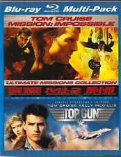 MISSION IMPOSSIBLE 1,2,3 BLU-RAY WITH TOP GUN SPECIAL COLLECTOR'S EDITION