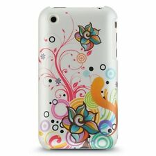 Design Crystal Hard Case for iPhone 3G / 3GS - Pearl White Autumn Floral Flower