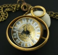 Classic Ball Glass Copper Automatic Mechanical Pocket Watch Pendant Steampunk