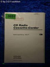 Sony Bedienungsanleitung CFD E95 /E95L Cassette Corder (#3651)
