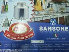 SANSONE IL GIOIELLO DELLA CUCINA, CONTENITORE OLIO 3LT INOX + OLIERA 1LT INOX
