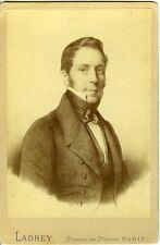 LADREY PARIS portrait homme identifié César Casati  Photo Cabinet 1880