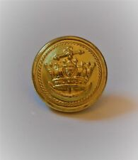 Vintage Merchant Navy Crown and Anchor Button by Gaunt of London
