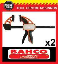 "2  x BAHCO QCB-450 18"" / 450mm QUICK CLAMP – 200kg CLAMPING FORCE"