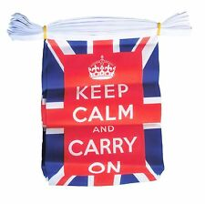KEEP CALM & AND CARRY ON UNION JACK 9 metre BUNTING 30 FLAGS flag