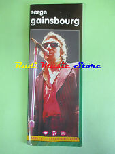 SPARTITO SERGE GAINSBOURG Paroles accord & melodie2002 no cd lp mc dvd vhs live