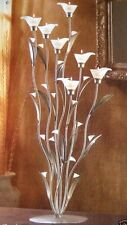 "32"" TALL Silver Candelabra Large White Candle Holder Wedding Centerpiece"