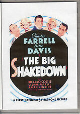 THE BIG SHAKEDOWN - BETTE DAVIS & CHARLES FARRELL   ALL REGION DVD