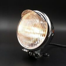 "5.5"" Chrome Motorcycle Headlight for Cruiser Chopper Cafe Racer Bobber Custom"