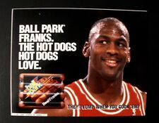 1993 Michael Jordan Chicago Bulls Basketball Ball Park Franks Hot Dogs Display