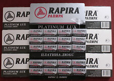 700 RAPIRA Platinum Lux Double Edge Razor Blades 7 packs 100 each Made in Russia