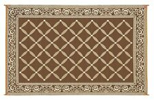 Indoor and Outdoor Rugs RV Patio Mats for Patios 6x9 Reversible Picnic Carpet