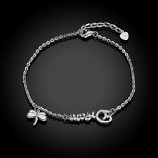 Damen Armband 925 Sterling Silber Schmuck, Dream Gravur, Schmetterling, Filigran