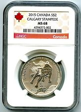 2015 $2 CANADA 1/2 OZ SILVER CALGARY STAMPEDE NGC MS68 RED LABEL .9999 FINE
