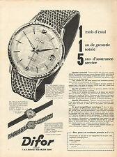 Publicité Advertising 1960  Montre Difor