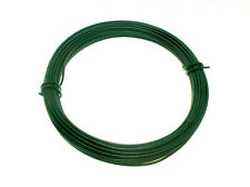 1 X roll of Green Plastic Coated Garden Fence Wire - 2 Mm X 1.4 Mm X 15M