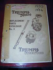 1955 1956 Triumph Tiger Cub_Terrier Models Factory Parts Catalog_OEM_Original!