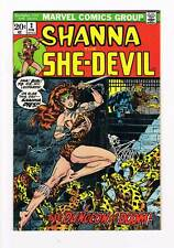 Shanna the She-Devil # 2  classic Steranko cover  grade 8.0 scarce hot book !!