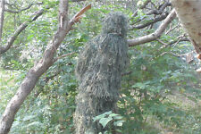 4pcs Grass Type Jungle Woodland Camouflage Ghillie Suit f Sniper Hunting Birding