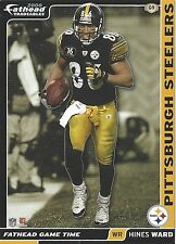HINES WARD PITTSBURGH STEELERS GEORGIA BULLDOGS UGA FATHEAD TRADEABLES 2008 #G9